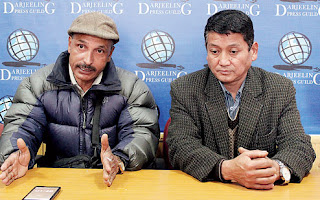 Deepak Sharma and Kisan Gurung in Darjeeling