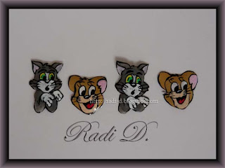 Transfer decoration of Tom and Jerry
