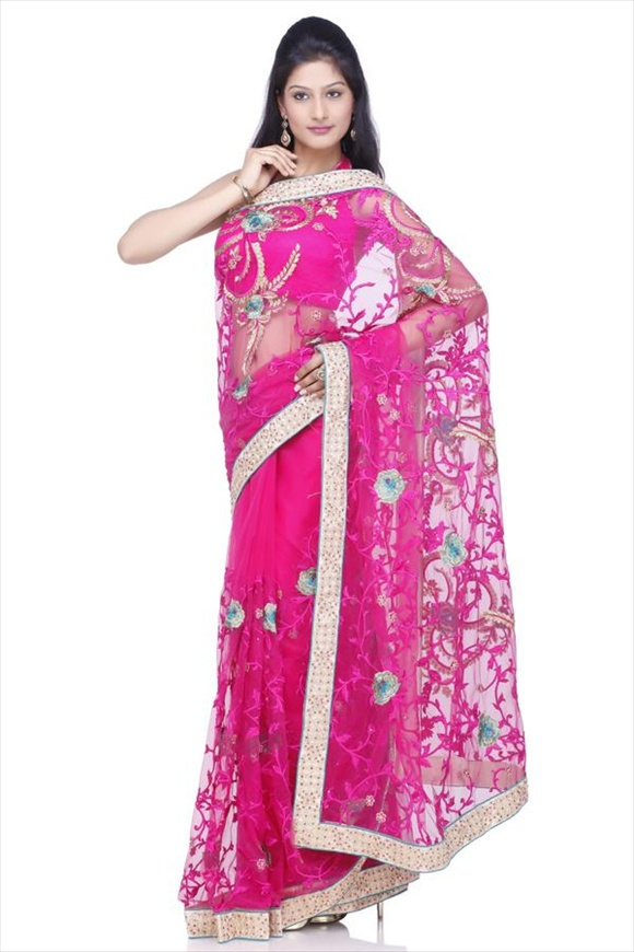 blouse designs for net sarees