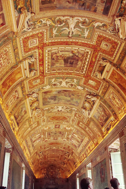 Ceiling in the map room, Vatican museum