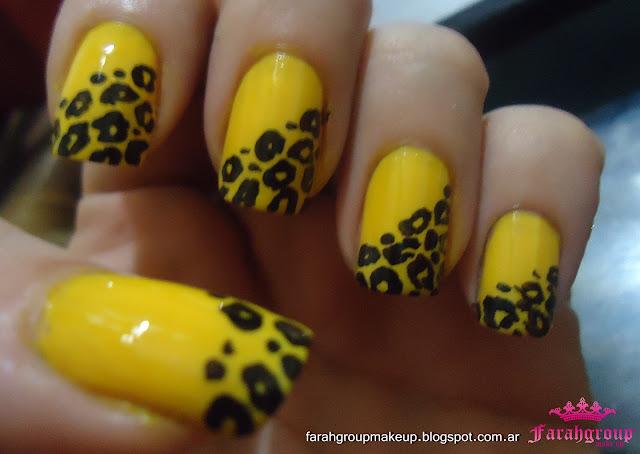 Nail Art uñas amarillas
