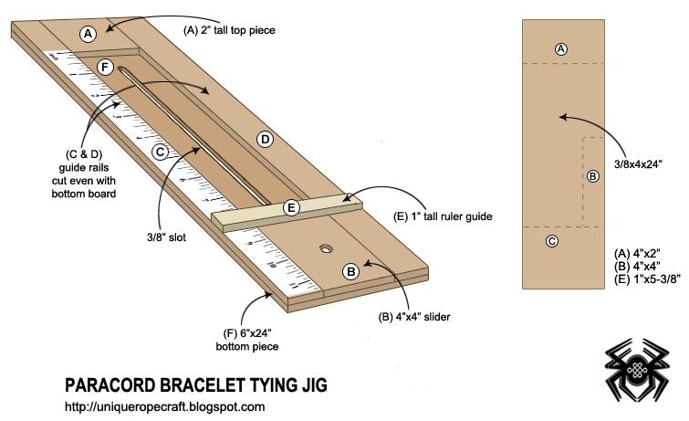 Unique Ropecraft: Unique Paracord Bracelet/Necklace Tying Jig ...