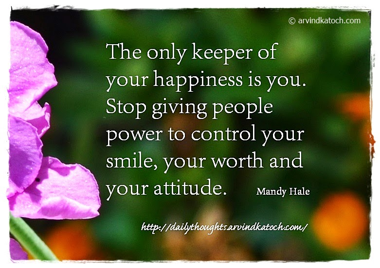 Happiness, Secret, power, smile, attitude Mandy Hale, Daily Quote,
