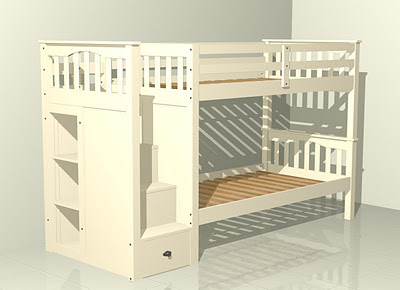 F one 39 s bed stairway bunk bed for Bunk beds with stairs uk