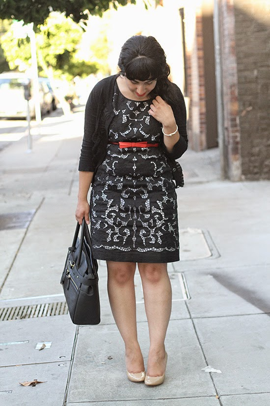 Kate Spade Black and White Lace Dress