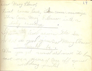 Joanne Palmer Stainback in autograph book belonging to Mary Davis Slade 1940-41
