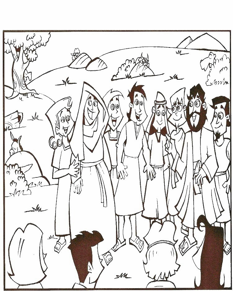 Imagenes Cristianas Para Colorear: Historia de Job Para Colorear