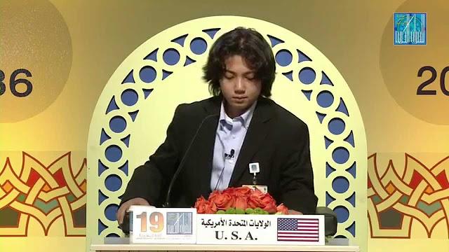 Wow ! Remaja Muda dan Gaul Asal Amerika Ini Juarai Lomba Tahfidz Quran Internasional di Dubai