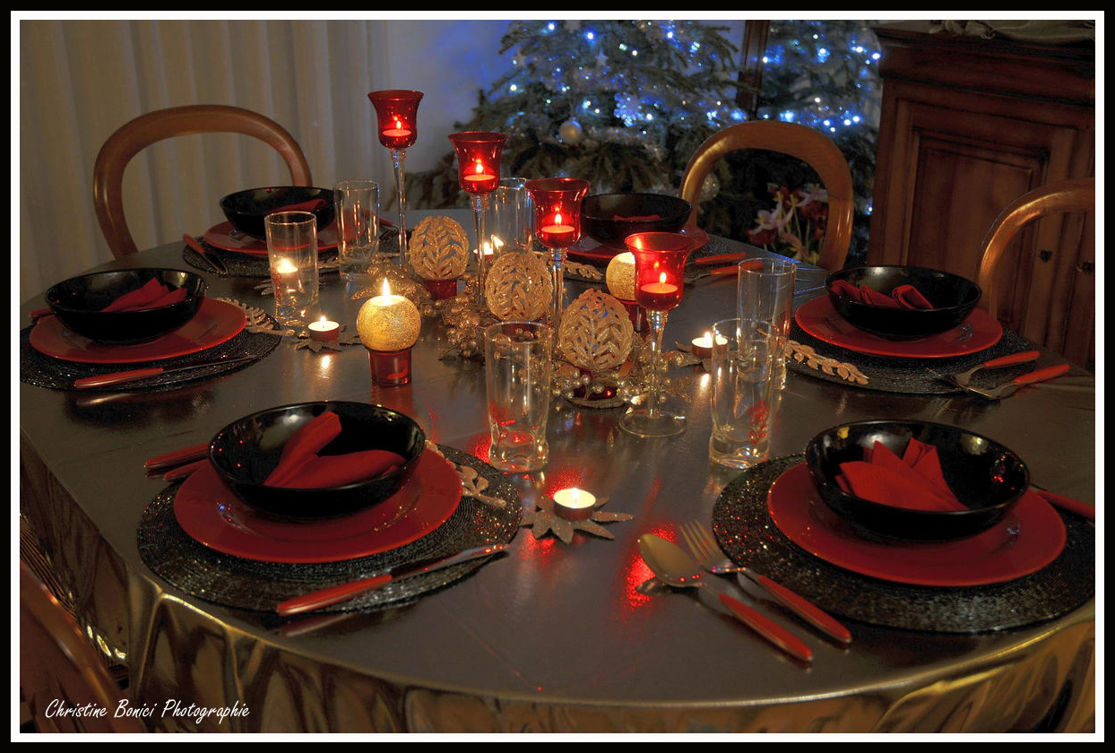 Table jour de l 39 an 2009 christine bonici photographie - Deco de table jour de l an ...