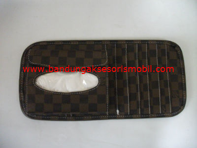 CD Bag + Tissue Bag LV Cokelat