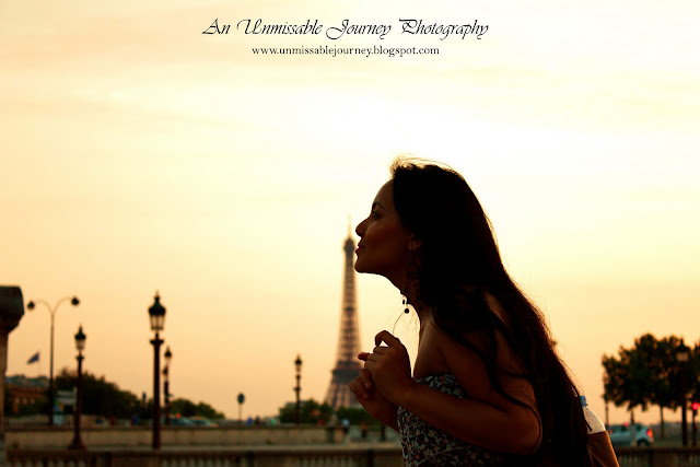 Travel Photos Sunset in Paris France Marjolyn Lago is enjoying her time in Paris France