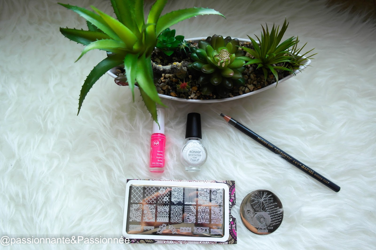 Plaque stamping nail art