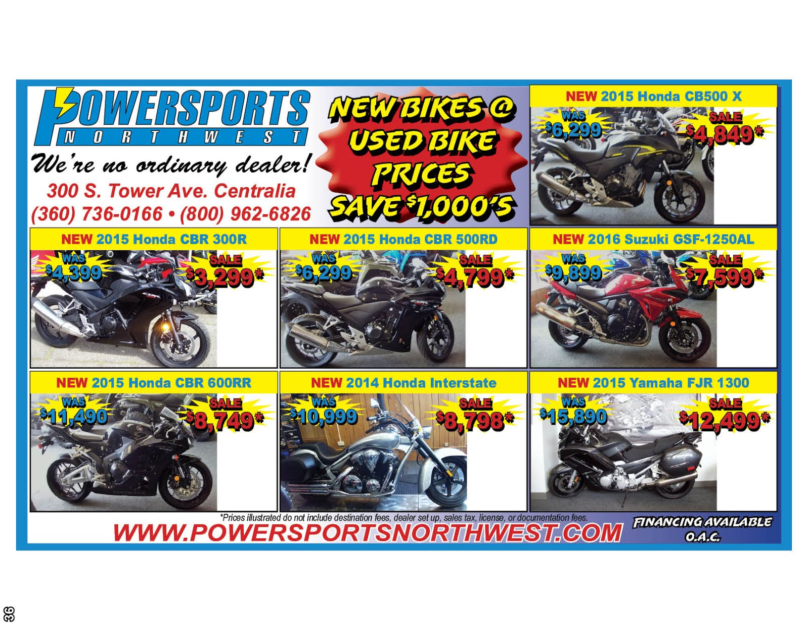 Powersports Northwest We're No Ordinary Dealer!!