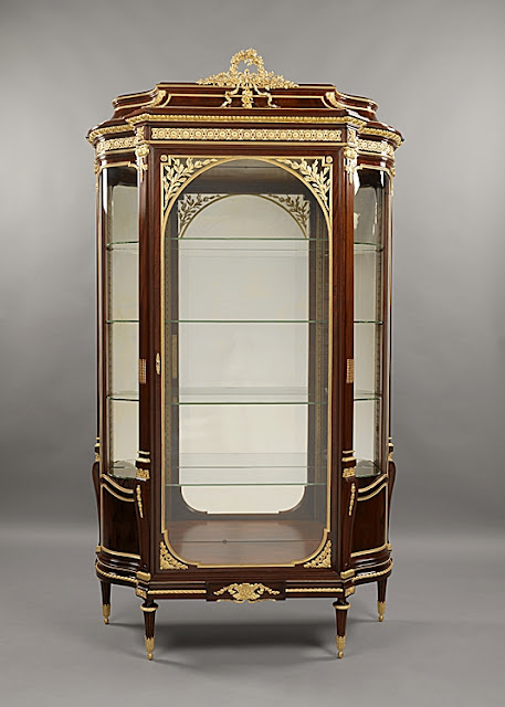 François Linke | Léon Messagé An Important Exhibition Louis XV Style Kingwood and Gilt-Bronze Bombe Vitrine French, Circa 1880