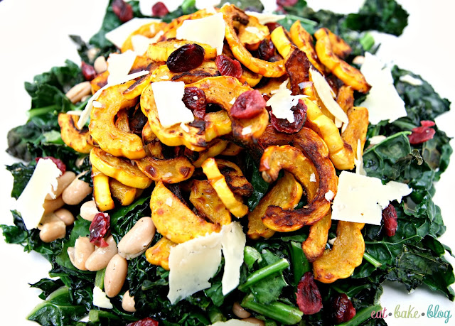 best kale salad recipe roasted squash delicata squash recipe