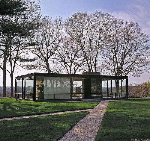 aujourd hui val ry glass house by philip johnson. Black Bedroom Furniture Sets. Home Design Ideas