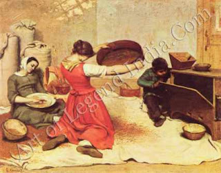 "The Great Artist Gustave Courbet Painting ""The Winnowers"" 1855-51 ½"" X 65 ¾"" Musée des Beaux Arts, Nantes"