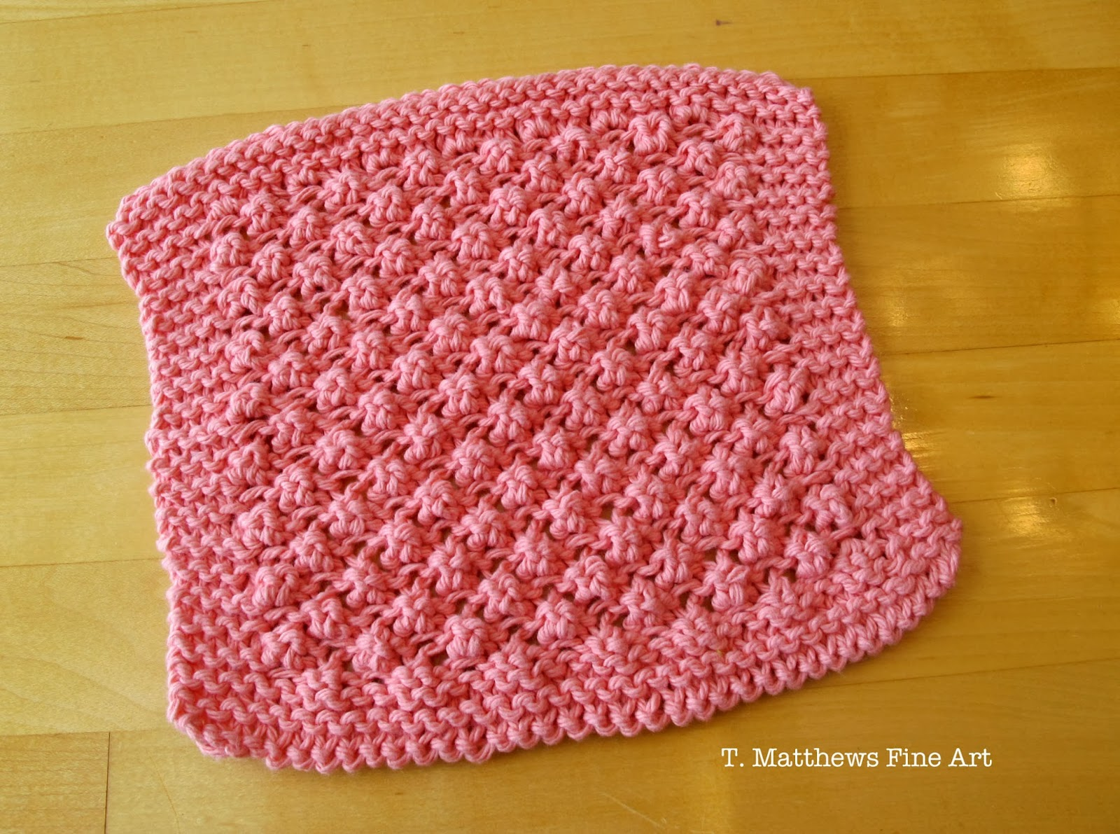 Knitting Patterns For Baby Washcloths : T. Matthews Fine Art: Free Knitting Pattern - Raspberry Baby Washcloth