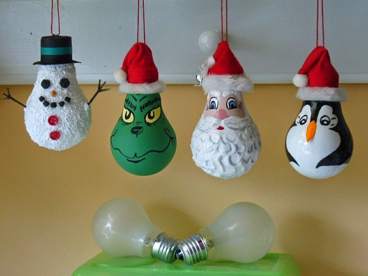 Ideas products light bulb christmas ornaments for Clear christmas bulbs for crafting