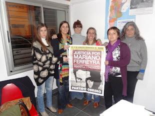 LUCHADORAS CONTRA LA TRATA EN AZUL TAMBIÉN PIDEN JUSTICIA POR MARIANO