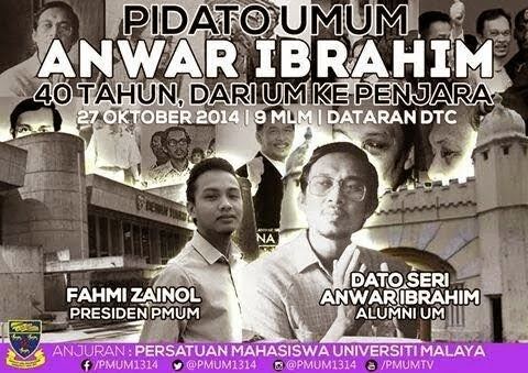 Pidato Umum Anwar Ibrahim Di Universiti Malaya 27 Okt 2014