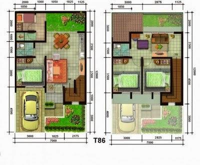 menentukan pembagian ruang untuk desain rumah minimalis