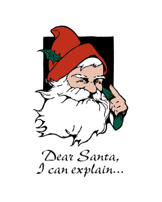santa illustration text says dear Santa i can explain