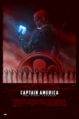 Captain America: The First Avenger Dyptich Screen Prints by Marko Manev – Red Skull