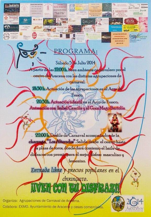 Carnaval de Verano de Aracena 2014
