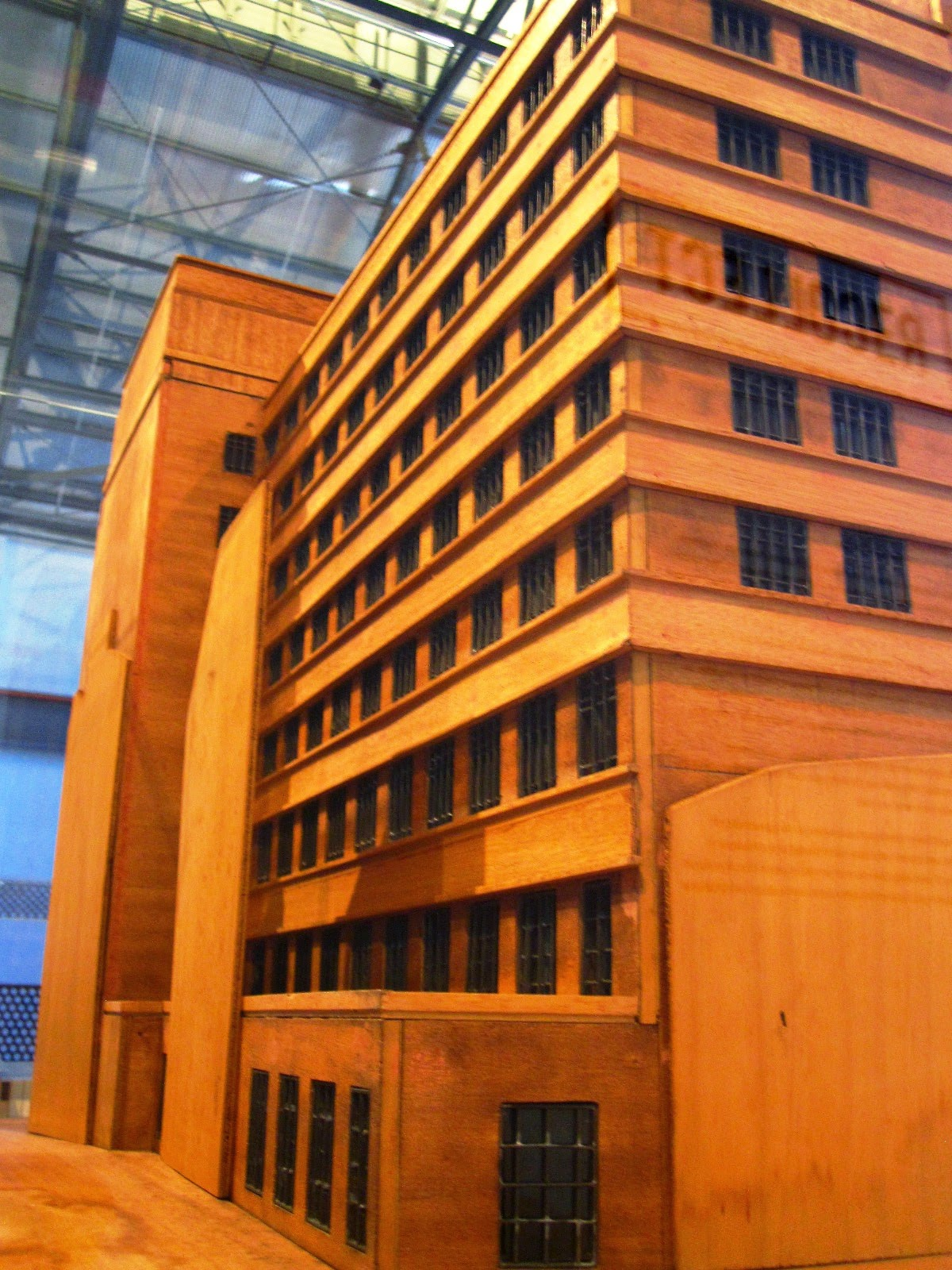 Wooden model of the Metropolitan Water Sewerage and Drainage Board building.