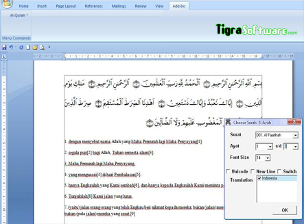 Free Download Qur'an In Word