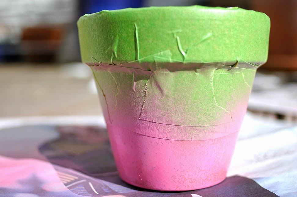 Decoraci n f cil diy pintar macetas de terracota - Macetas de terracota ...