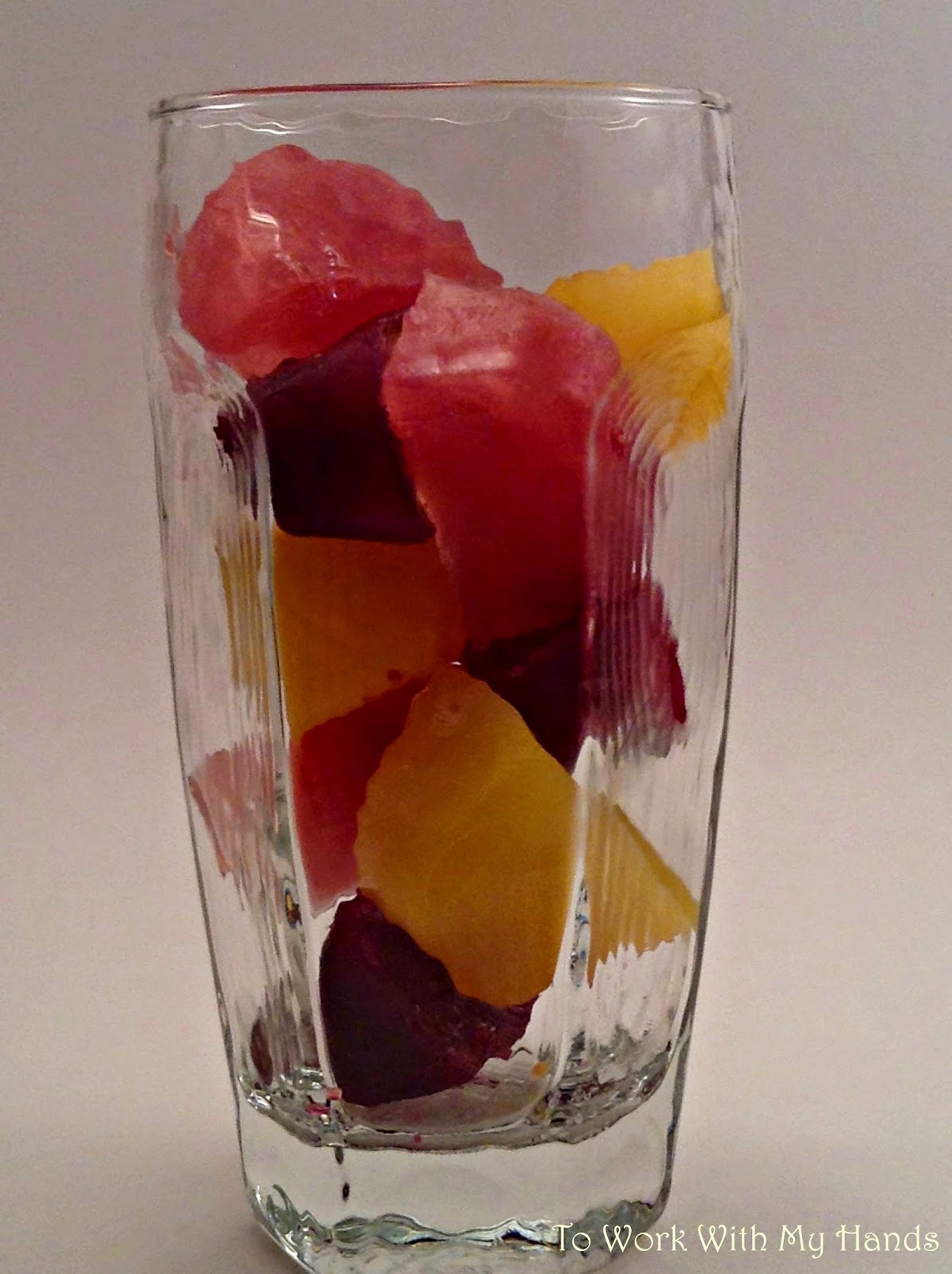 To make polka dot punch, simple freeze orange, grape, and cranberry juices in ice cube trays until frozen solid. When ready to serve, place alternating cubes into a tall clear glass and add lemon-lime soda or ginger ale.