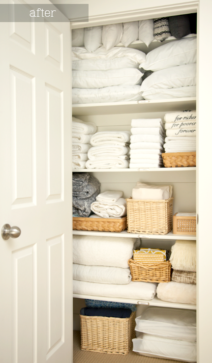 cottage and vine monday inspiration the organized linen closet. Black Bedroom Furniture Sets. Home Design Ideas