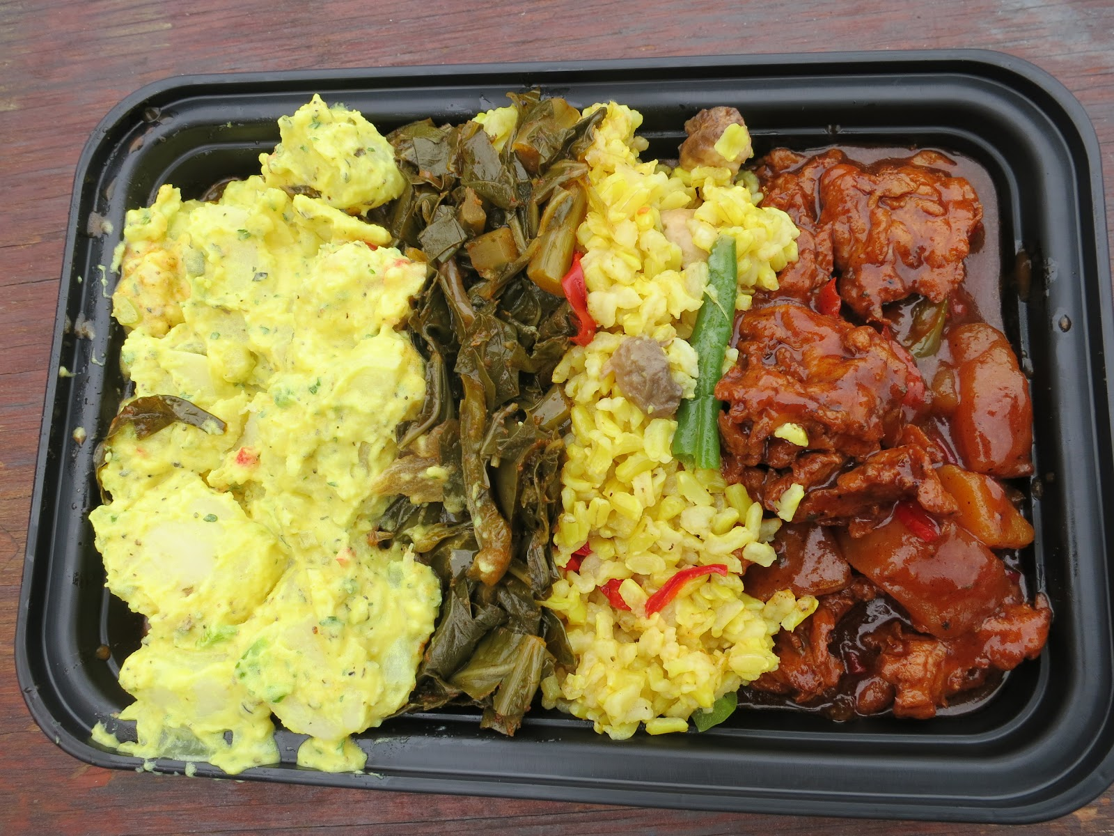 The veracious vegan vegfest baltimore 2012 kushs booth and got the sampler platter that included rice soy ribs collard greens and potato salad it was delicious vegan soul food at its best forumfinder Choice Image