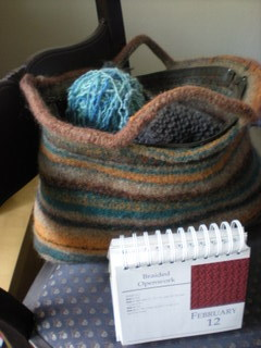 Big felted tote bag