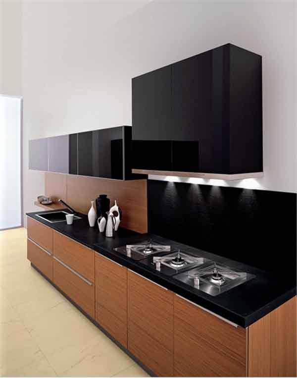 Backsplash ideas for black granite countertops the for Black kitchen design