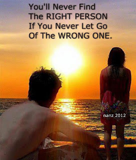 find right person and left wrong person quote