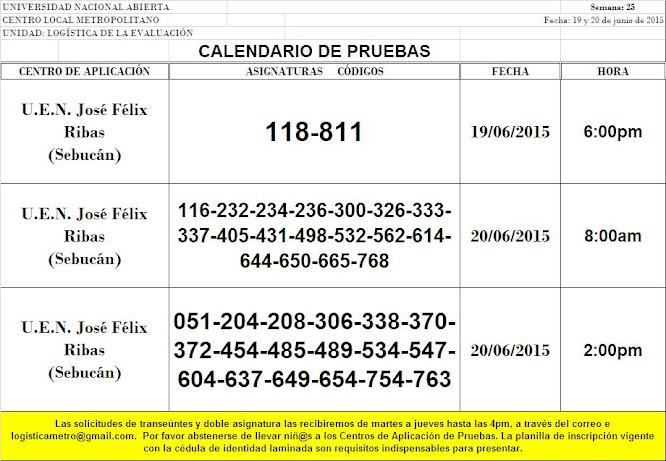 CENTRO DE PRESENTACIÓN EN CARACAS. VIERNES 19 y SÁBADO 20 DE JUNIO DE 2015