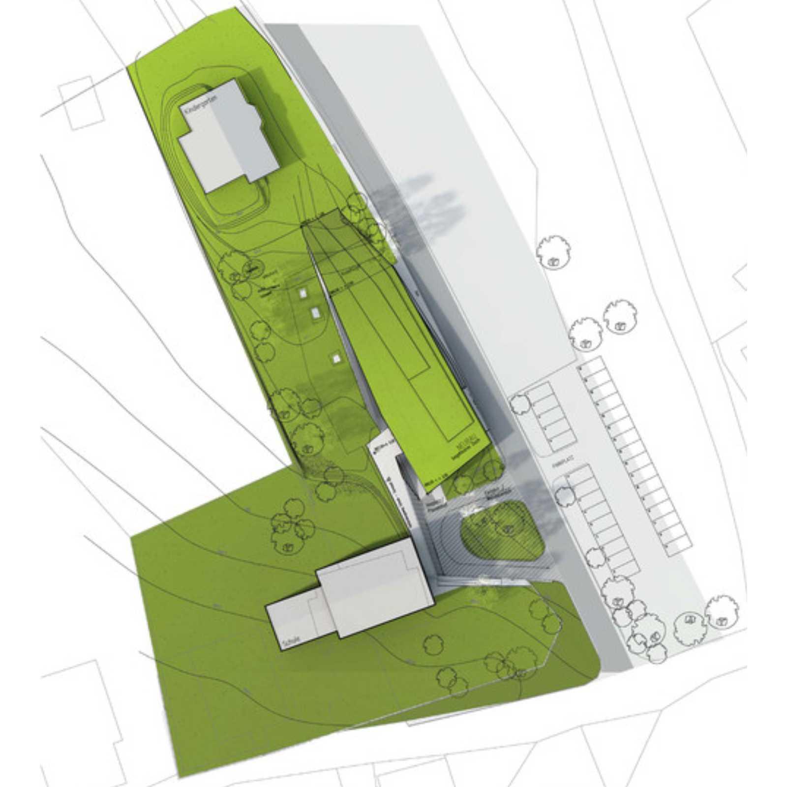 multipurpose hall by laac architekten. Black Bedroom Furniture Sets. Home Design Ideas