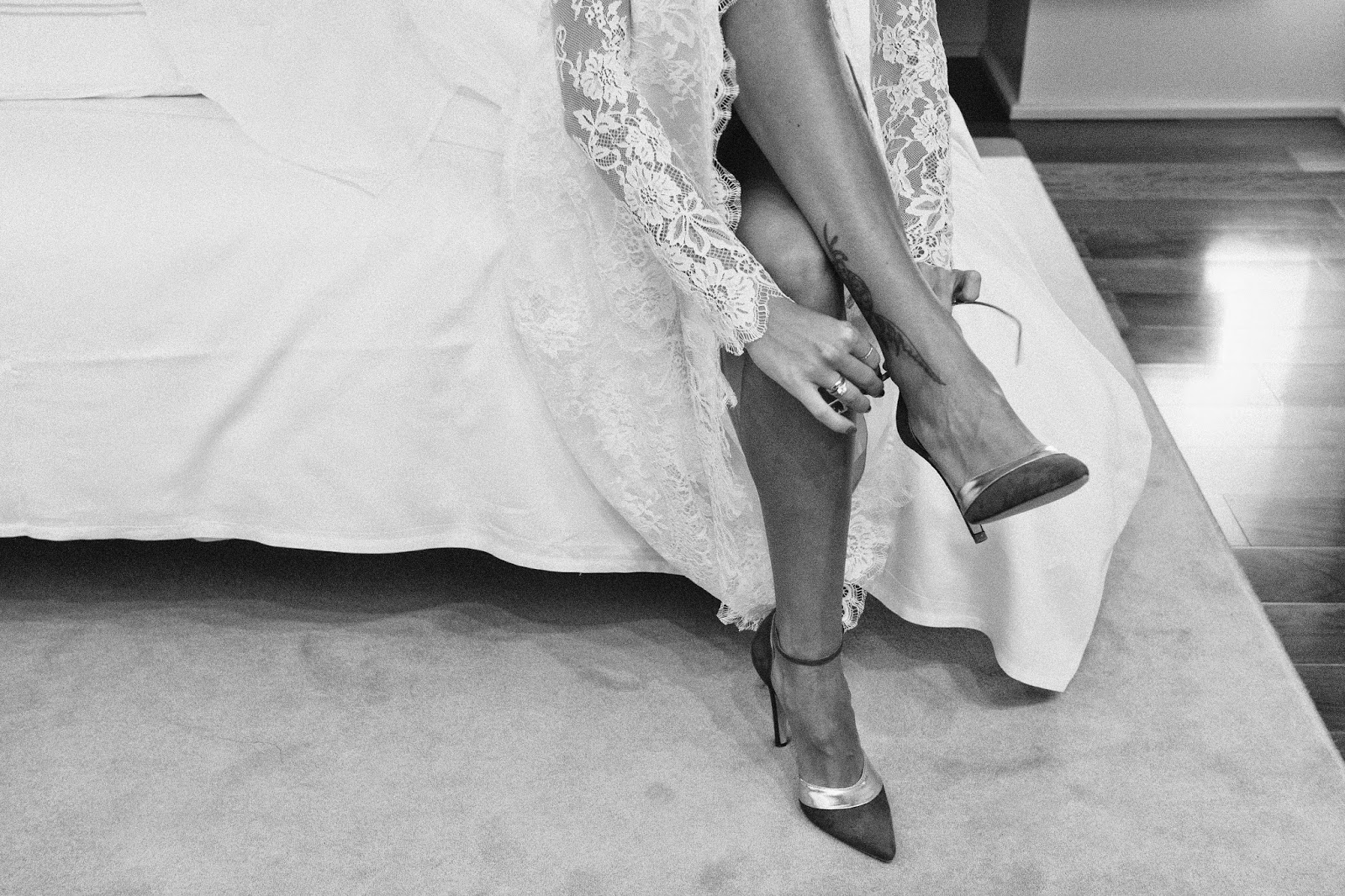 stiletto-ankle-strap-heels-white-lace-dress