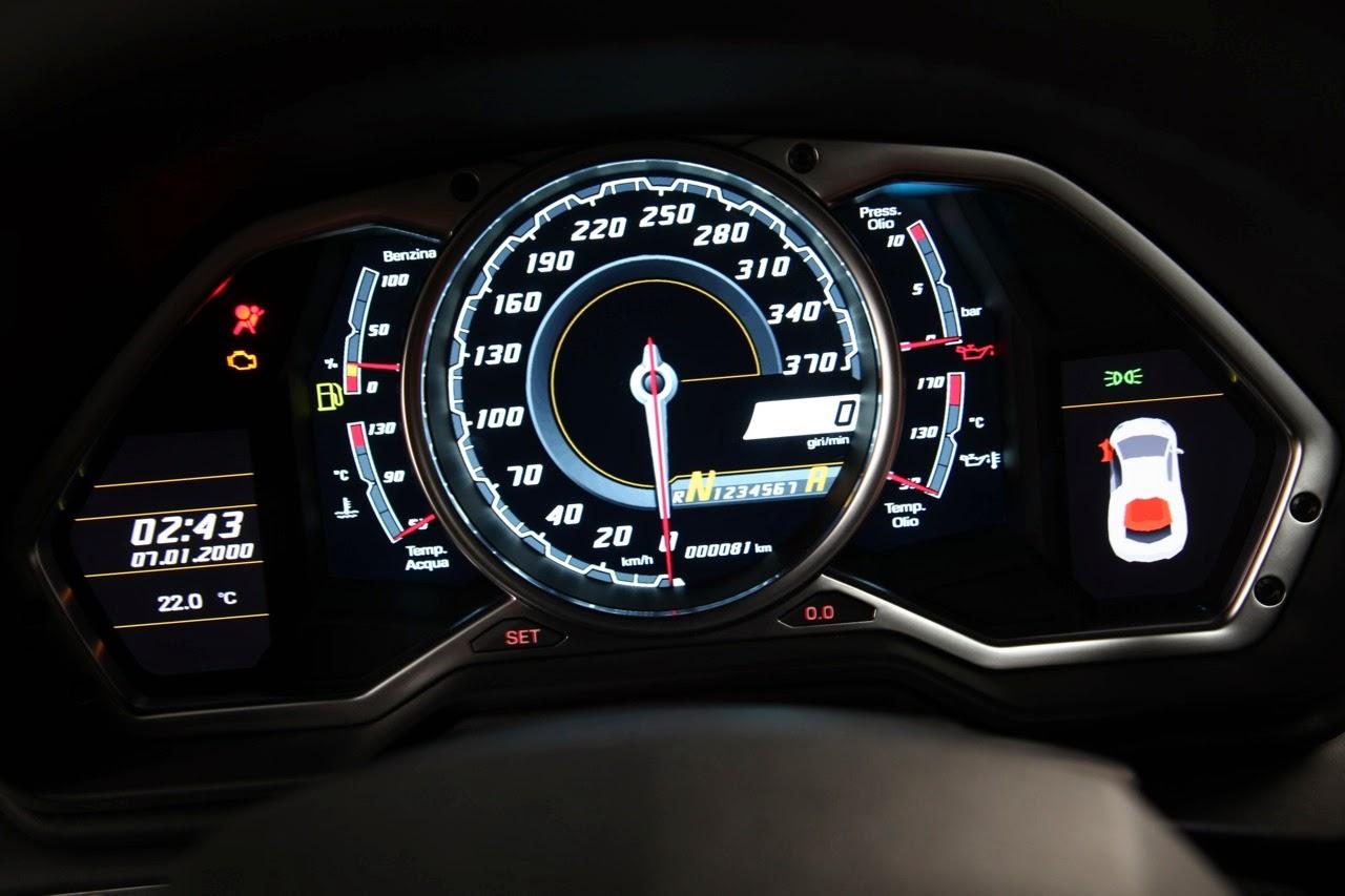 no Car Wallpaper: Lamborghini Aventador Speed Meter