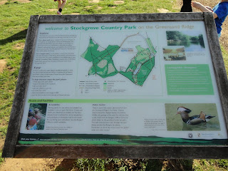 Map at Rushmere Country Park Stockgrove Entrance