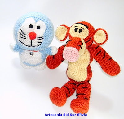 doraemon amigurumi tiger amigurumi 
