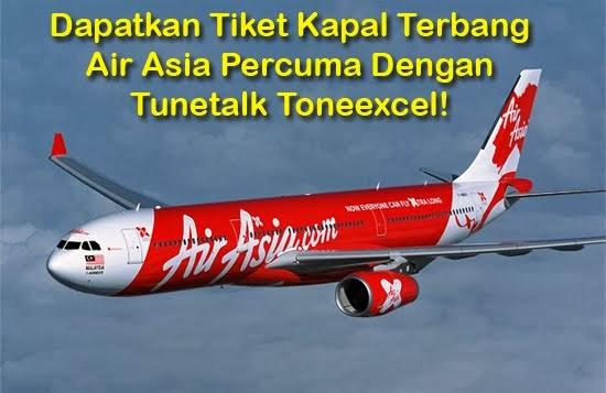 Panduan Tiket Penerbangan AirAsia Percuma