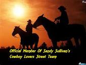 Sandy Sullivan's Cowboy Lover's Street Team!