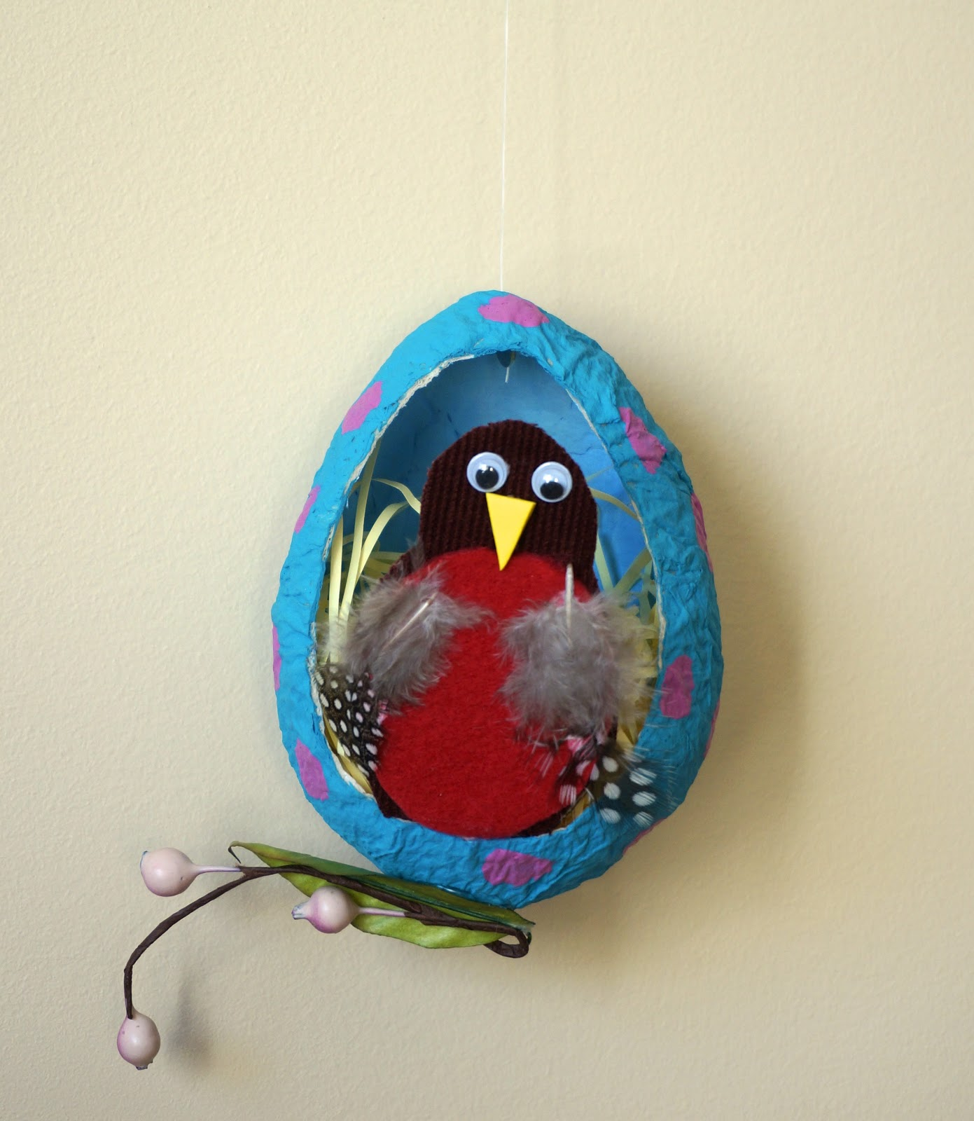 that artist woman papier mache robin eggs. Black Bedroom Furniture Sets. Home Design Ideas