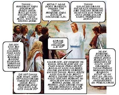 Yesus Sedang Rapat Penebusan Dosa Manusia