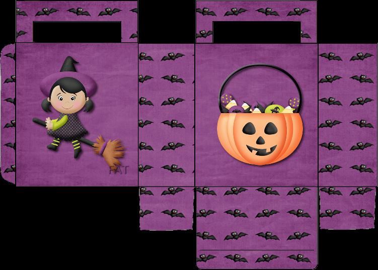 Papercraft de cajas para caramelos de Halloween.
