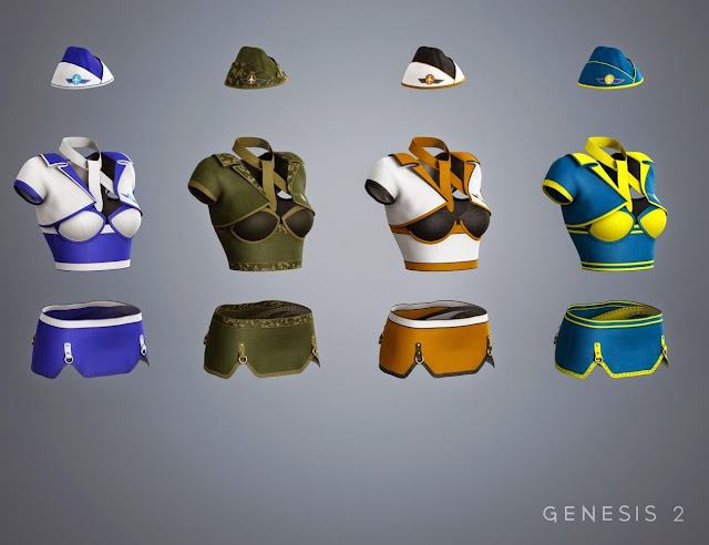 bombastic - bombastische 3D-Stewardess-Uniformen